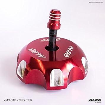 Locking ATV Handlebar Grips Billet Black Red Honda 400EX 400X TRX 700XX 250X