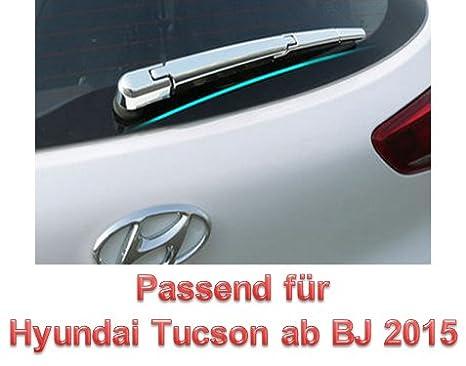 Tucson Bj 2015Â 2016Â cromo protectora Apertura para discos Limpiaparabrisas Trasero Tuning aesorios: Amazon.es: Coche y moto