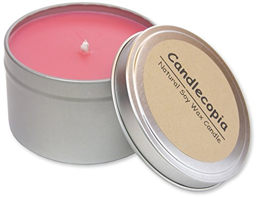Candlecopia Lick Me All Over Strongly Scented Sustainable Vegan Natural Soy Travel Tin Candle