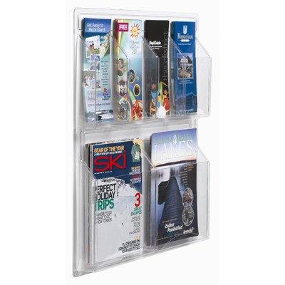 Clear-Vu Horizontal Pocket Magazine & Pamphlet Holders Number of Pockets: 18 Pockets