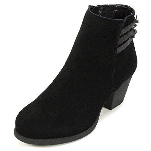 White Mountain 'IDELLA' Women's Bootie, Black - 8.5 M (Black And White Booties)