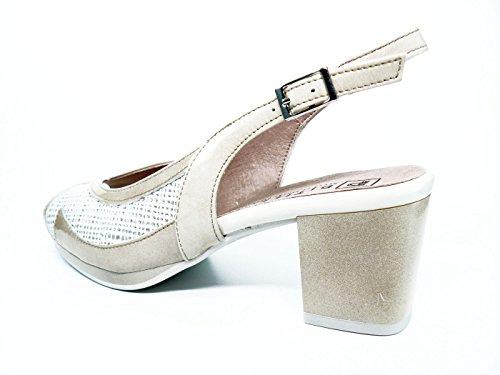 PITILLOS Women's Fashion Sandals Beige JSRy3A