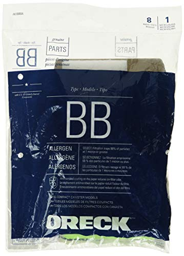 Genuine Oreck XL Buster B Canister Vacuum Bags PKBB12DW Housekeeper Bag 8 Pack (Oreck Vacuum Bags Buster B)