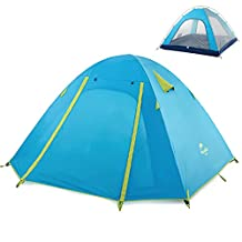 Azurec 2-3-4 Person 3 Season Double Doors Lightweight Waterproof Double Layer Backpacking Tent for Camping Hiking