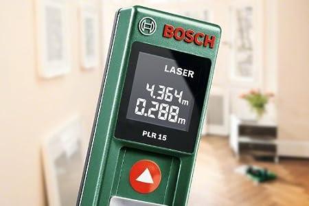 Bosch Entfernungsmesser Grün : Bosch plr 15 diy digitaler laser entfernungsmesser 2x batterien aaa