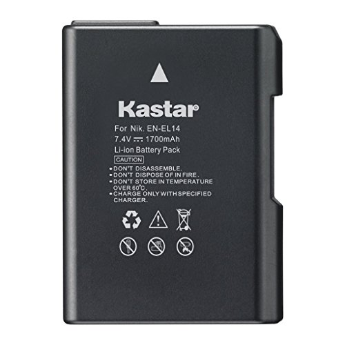 Kastar Replacement Battery EN-EL14 for Nikon D3100, D3200, D5100, P7000, P7100, P7700 DSLR Cameras