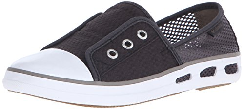 Columbia Women's Vulc N Vent Bombie Casual Shoe, Shark/Pebble, 6 B (011 Pebbles)