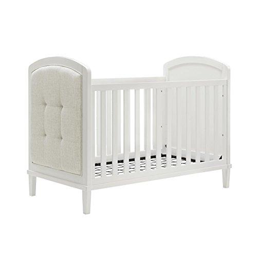 Baby Relax Senna 3-in-1 Upholstered Crib, White (Upholstery Ashton)