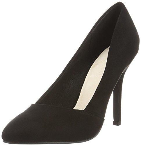Bianco Basic Loafer Pump Djf16, Zapatos de Tacón Mujer Negro (Black 10)
