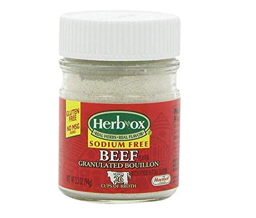 Herb-Ox Sodium-Free Beef Flavored Granulated Boullion, 3.3 Ounce (2 jars)