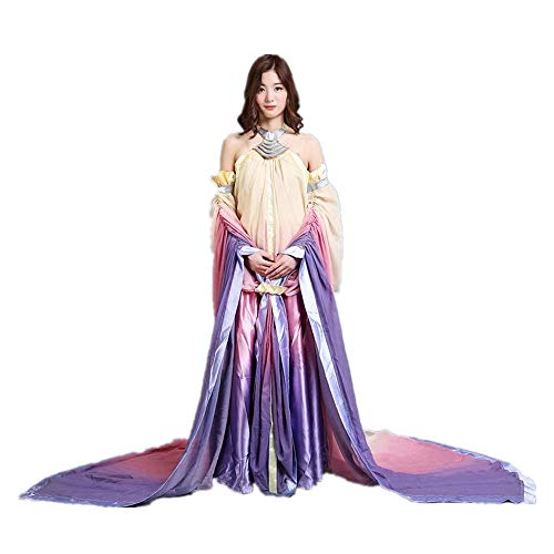 Queen Padme Amidala Naberrie Lake Dress Halloween Cosplay Costume for Women S -