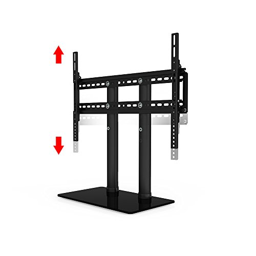 ollo 32 65 universal heavy duty table top tv stand for flat screen 88 lb capacity 2 height. Black Bedroom Furniture Sets. Home Design Ideas