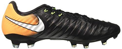 Nike Herren Tiempo Legacy III FG Fußballschuhe Schwarz (Black/white-laser Orange-volt)