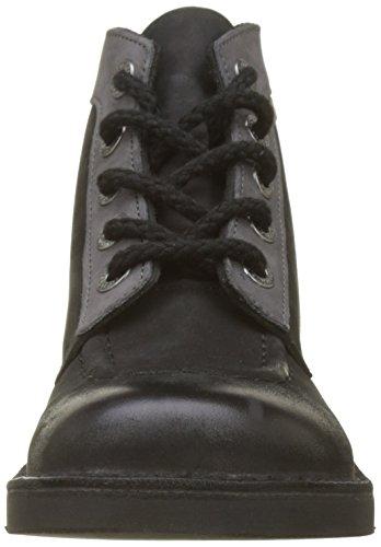 Bottes Classiques Kickers Noir Bleu Col Enfant Mixte et 84 Bottines Noir 6wCaxCq4