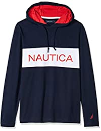 d5a13365 Nautica - Sudadera con Capucha para Hombre, 100% algodón, Manga Larga