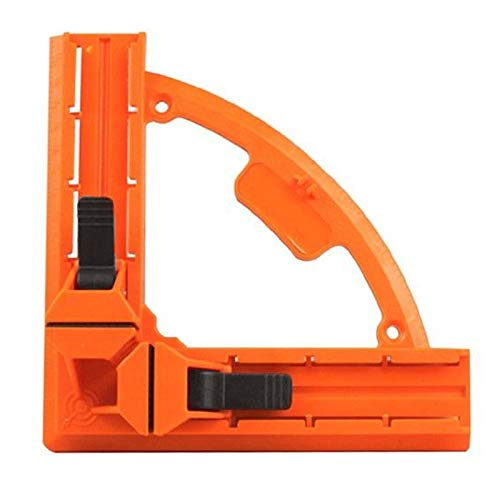 Fixed Corner Clamp - SODIAL 90 Degree Right Angle Clamp 95mm Reinforced Fixed Picture Frame Clip DIY Glass Mitre Clamps Corner Holder Woodworking Hand Tool