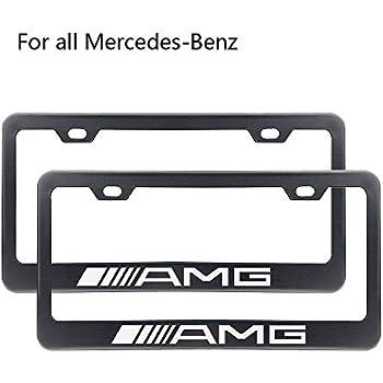 Amazon Com Zhengyong Auto 2pcs Matte Black Amg License