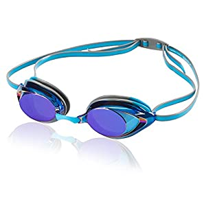 Speedo Vanquisher 2.0 Mirrored Swim Goggles, Horizon Blue, One Size