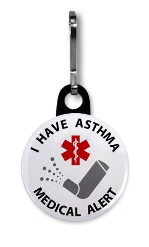 MEDICAL ALERT ASTHMA INHALER 1 Zipper Pull Charm