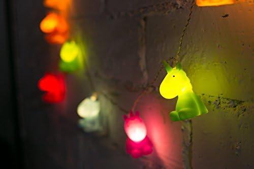 White MTM-Gifts HK Ltd. RMEX Unicorn Nightlight LED Warm White Light with Timer Function Kids