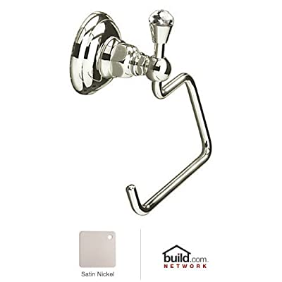 Rohl A1492C Country Bath Single Post Toilet Paper Holder with Swarovski Crystal, Satin Nickel