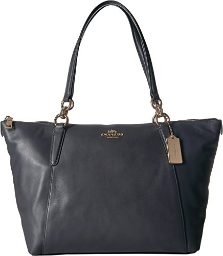 COACH Women's Crossgrain Ava Tote Im/Midnight Navy One Size from Coach