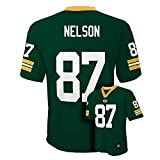Jordy Nelson Green Bay Packers #87 NFL Youth Mid-tier Jersey Green (Youth Large 14/16)