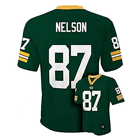 Jordy Nelson Green Bay Packers #87 NFL Youth Mid-tier Jersey Green (Youth Large 14/16) (Packer Jordy)