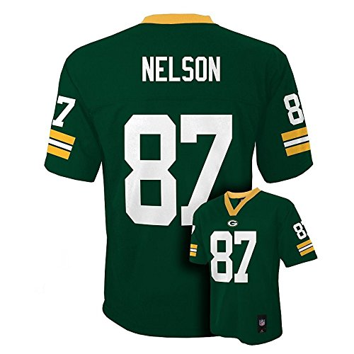 Outerstuff Jordy Nelson Green Bay Packers #87 NFL Youth Mid-Tier Jersey Green (Youth XLarge ()
