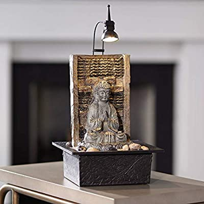 "John Timberland Namaste Buddha 11 1/2"" High Indoor Table Fountain"