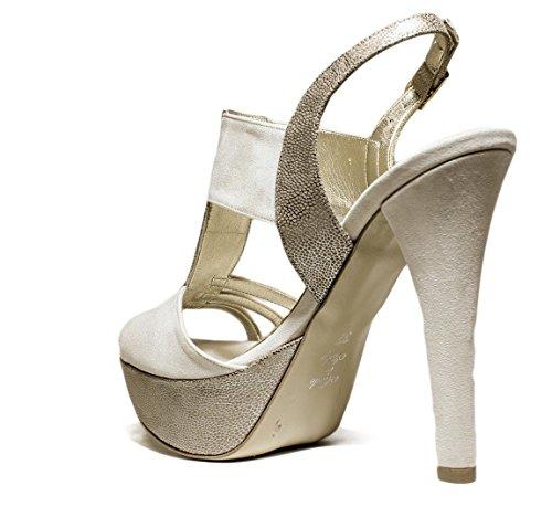 JO-EL Joel S Zapatos de Las Sandalias Bombas Joya, Tacones, Nueva Colección Primavera Verano 2016 Cuero Beige