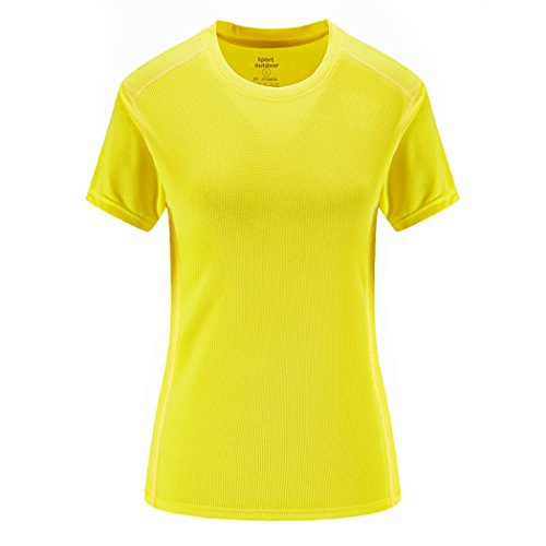 Trail Runner Tech Tee - Real Spark Men's Big & Tall Dry Fit Mesh Athletic Shirt Cool Tech Running T-Shirt Top Yellow XXXXXL