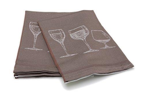ZOLLNER®4er-Set Geschirrtücher / Trockentuch 50x70 cm grau, in weiteren Farben erhältlich,in Gastronomiequalität, Serie