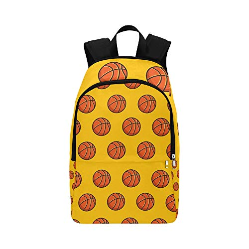 JXCSGBD Basketball Sport Emblem Icon Casual Daypack Travel Bag College School Backpack for Mens and -