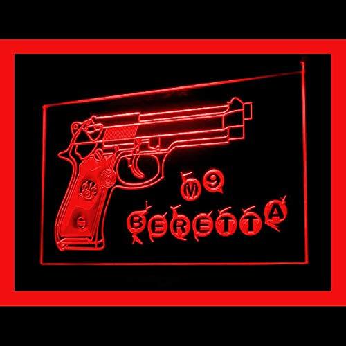 200099 M9 Beretta Airsoft Gun Bullet Paintball Pistol Display LED Light Sign