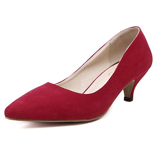amoonyfashion-womens-kitten-heels-frosted-solid-pull-on-pointed-closed-toe-pumps-shoes-red-39