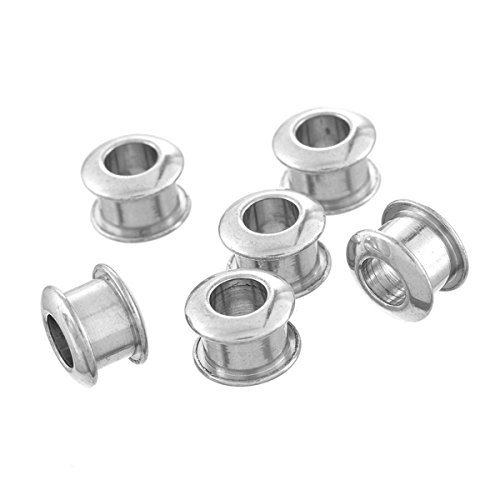 Silver Cylinder Bead (VALYRIA 10pcs Stainless Steel Silver Cylinder Spacer Beads Findings Jewelry Connectors 8mmx6mm)