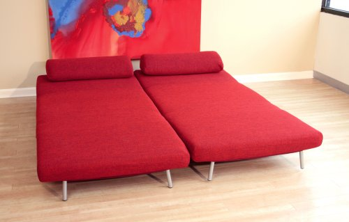 Awe Inspiring Baxton Studio Quintiliano Convertible Sofa Bed Red Buy Pdpeps Interior Chair Design Pdpepsorg