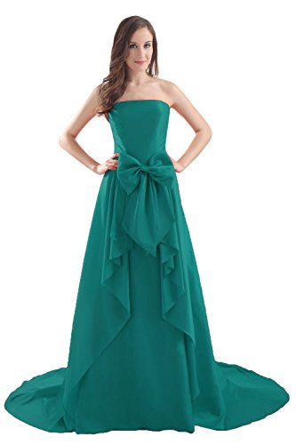 Bridal_Mall - Robe - Sans Manche - Femme -  Vert - 36