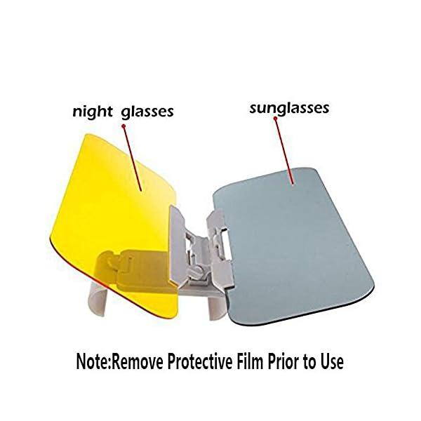 Extensor de Parasol Anti-Deslumbramiento,Coche Anti-Deslumbramiento Anti-Deslumbramiento - Gafas Sun Visor Extensor Protector Solar Shade Día o de la noche anti-deslumbramiento Autour 4