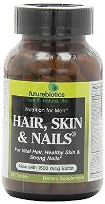 Futurebiotics Hair, Skin & Nails Supplement for Men, Tablets, 135 tablets (Pack of 2)
