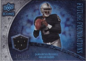 (2008 Upper Deck Icons Future Foundations Jersey Silver #FF15 JaMarcus Russell Jersey /199 )