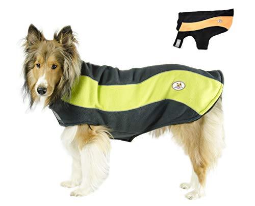 CuteNfuzzy Adjustable Double Layer Polar Fleece Dog Reflective Adventure Coat