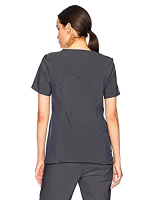 Cherokee Women's Iflex V-Neck Knit Panel Top