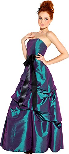 Bridesmaid Prom Long Dress, Medium, Emerald-Green