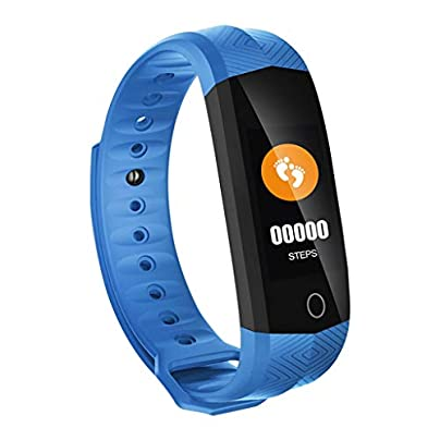 LNLZYF smart wristband Smart Wristband Smart Band Fitness Bracelet Waterproof Heart Rate Tracker Color LCD Screen Sleep Monitor for IOS Android Blue Estimated Price £38.50 -