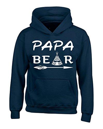 Shop4Ever Papa Bear Teepee Hoodies Father's Day Sweatshirts XXX-LargeNavy0