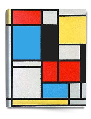 - DECORARTS - Ater Piet Mondrian Composition in Blue, red and Yellow Lithograph in Colours. Giclee Prints Canvas Art for Home Decor 24x30 x1.5