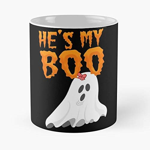 Halloween Couple Costume Hes My Boo Shes Funny Christmas Day Mug Gifts Ideas For Mom - Great Ceramic Coffee Tea Cup -