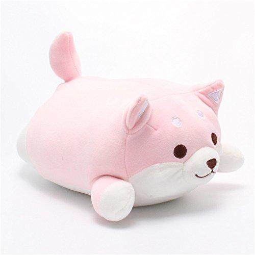 Corgi Dog Plush Toys Creative Corgi Dog Butt Shaped Plush Soft Pillows 36cm (Pink)